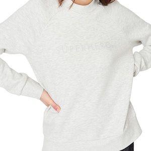 Sweaty Betty Superhero Gray Crewneck Sweatshirt